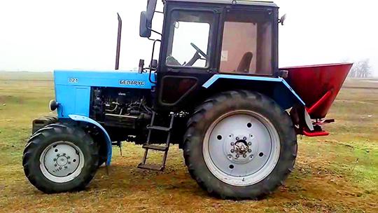 По желанию трактор МТЗ-82.1 оснащается ходоуменьшителем