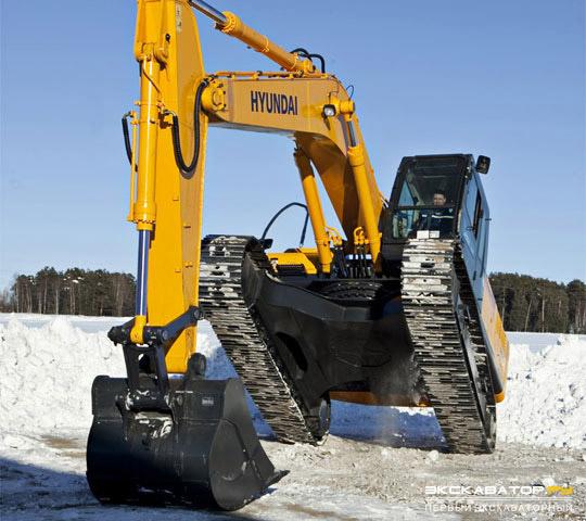 Арктическая версия экскаватора Hyundai R300LC-9SH