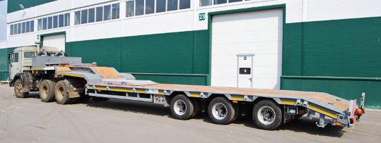 Новый полуприцеп для перевозки негабаритных грузов от Тверьстроймаш