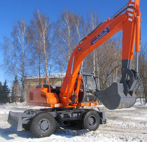 колесный  экскаватор ЕК-14М производства ТВЭКС