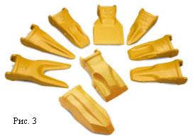 Зубья ковша Cat серии K