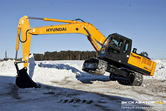 Гус\еиничный экскаватор Hyundai R300LC-9SH. Арктическая версия
