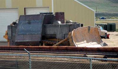 Бронированный бульдозер Komatsu D355A