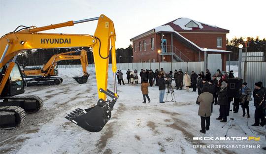 Демонстрация арктической версии экскаватора Hyundai R300LC-9SH