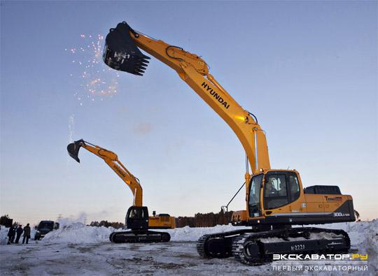 Презентация арктической версии экскаватора Hyundai R300LC-9SH