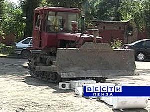 Акция в Пензе: кондиционеры под колесами бульдозера