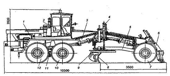 Схема автогрейдера дз 98 фото 990